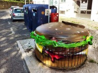 újrahasznositott hamburger