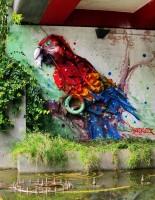 szemétszobor papagáj
