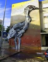 szemétszobor gólya
