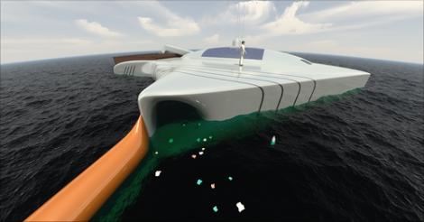 Vízen járó űrhajó? Nem, zöld óceán tisztító