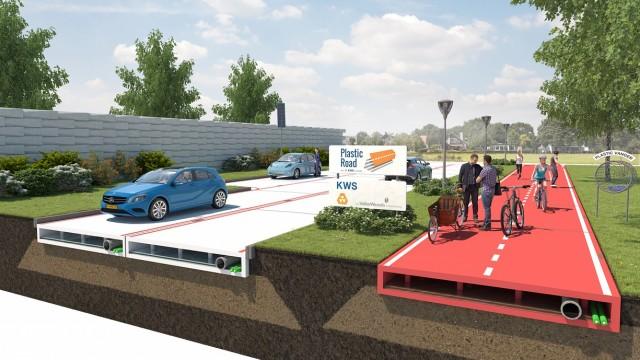 Zöldebb utak: újrahasznosított műanyag az aszfalt helyett
