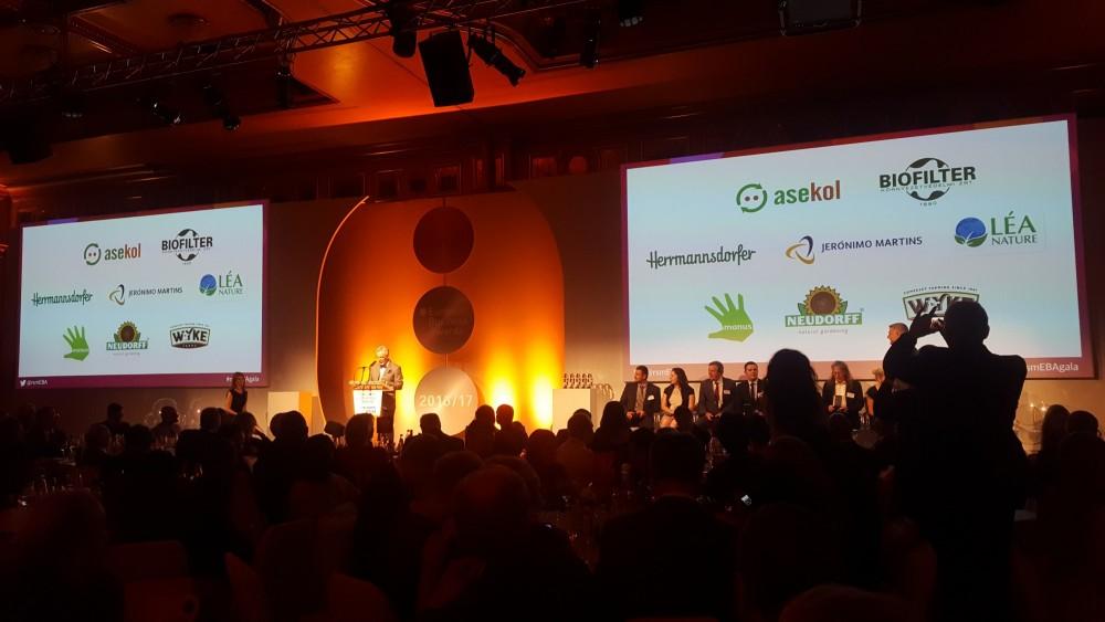 EBA díjátadó